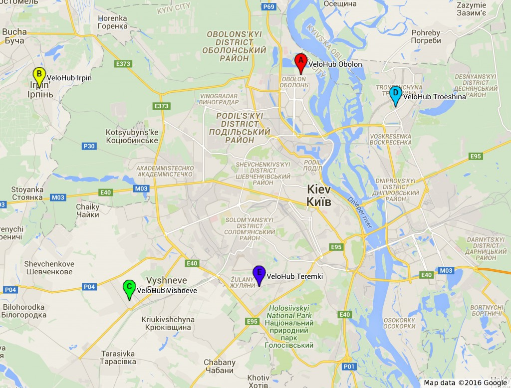 VeloHub Kyiv Map Mar2016